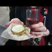 Mince pies and mulled wine in the OUP Oxford Fairway for the choir singing.