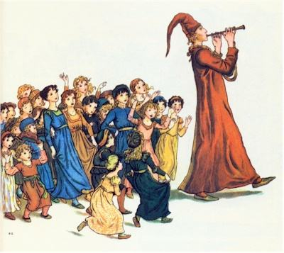 Pied Piper children, Kate Greenaway