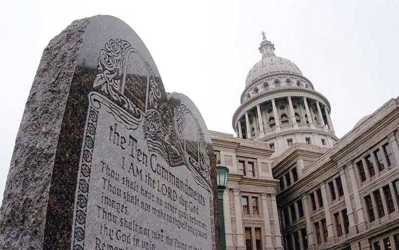 Ten Commandments Austin State Capitol