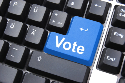 vote button keyboard