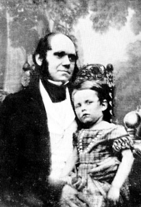 Charles and William Darwin. Photo by unknown. Public domain via Wikimedia Commons.
