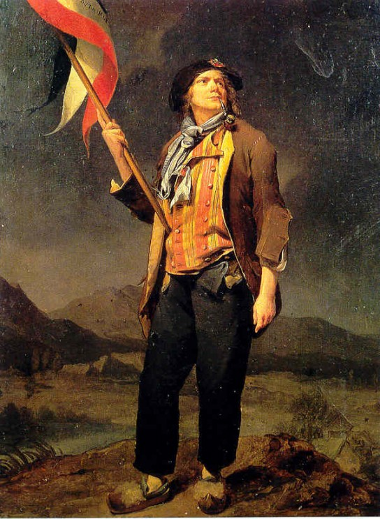 Painting of a typical sans-culotte by Louis-Léopold Boilly. Public domain via Wikimedia Commons.