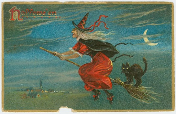 Hallowe'en. Holiday postcards. Raphael Tuck & Sons, ca. 1910. Courtesy of NYPL Digital Gallery.