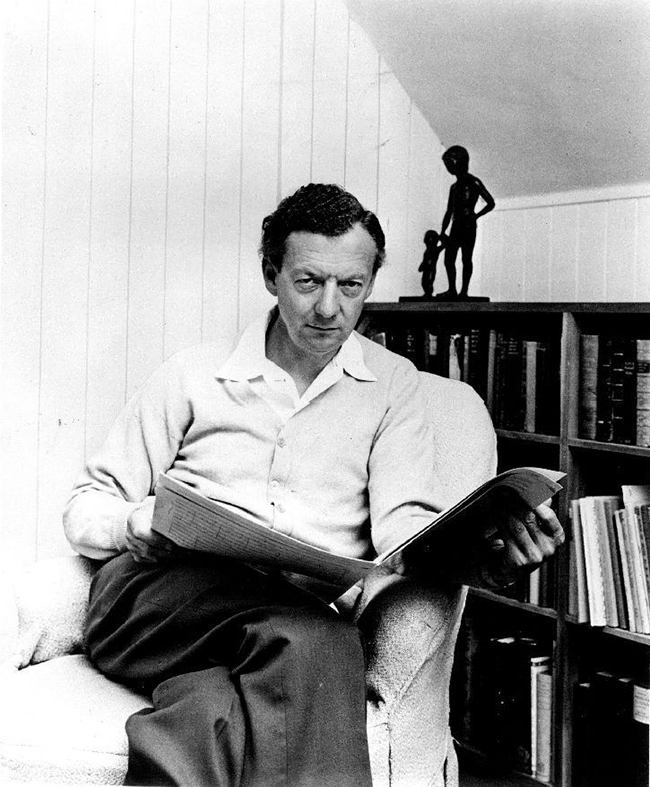 Benjamin Britten, London Records 1968 publicity photo, by Hans Wild for High Fidelity magazine via Wikimedia Commons