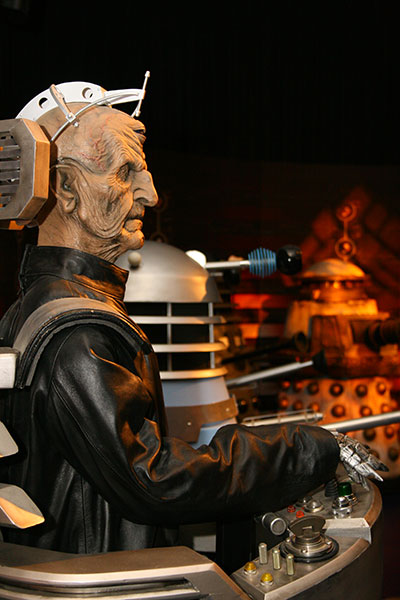 Davros and Daleks from Doctor Who, via Wikimedia Commons