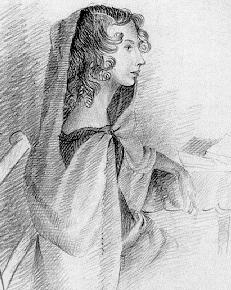 Anne Brontë - drawing in pencil by Charlotte Brontë, 1845