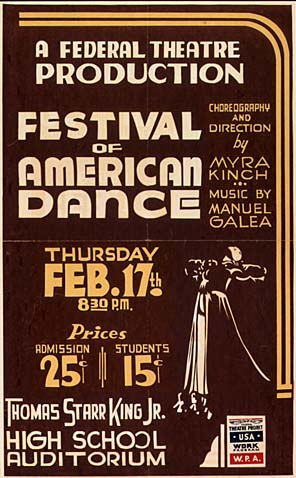 Federal Theater Project poster, 1938. Public Domain via Wikimedia Commons.