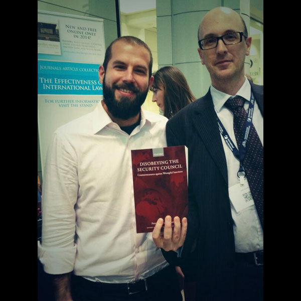 Antonios Tzanakopoulos, author of Disobeying the Security Council: Countermeasures against Wrongful Sanctions, and OUP's very own John Louth