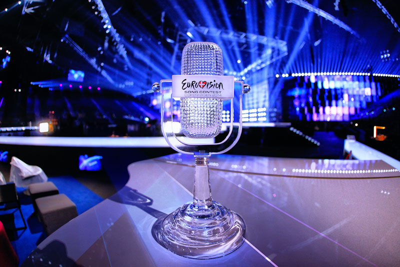 The Trophy of the 2014 Eurovision Song Contest. Photo by Thomas Hanses (EBU). 10 May 2014 . © European Broadcasting Union.