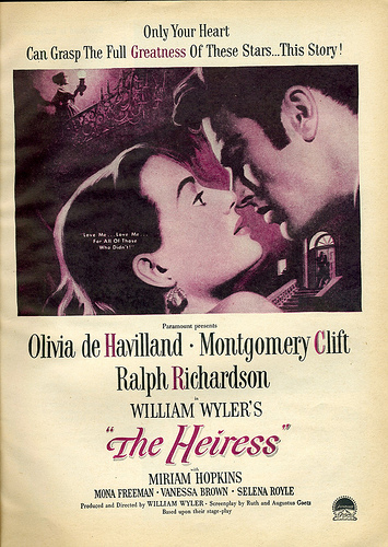 Movie poster for The Heiress (1949). CC BY 2.0 via Nesster Flickr.