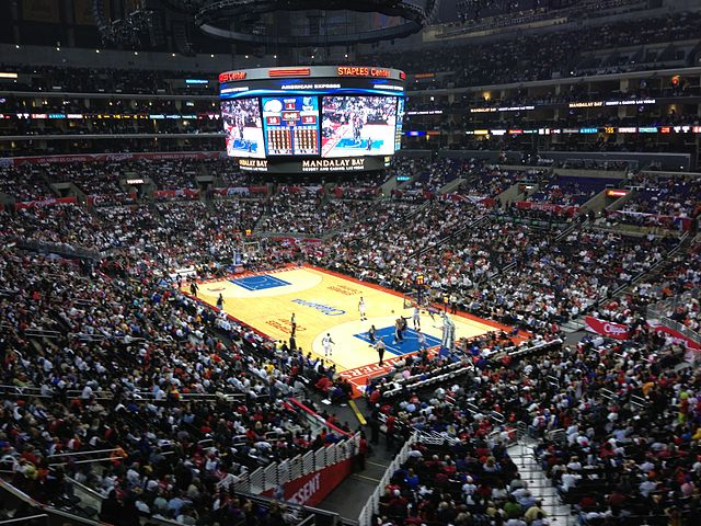 Minnesota Timberwolves-LA Clippers game at Staples Center. Photo by David Jones, 2012. CC BY 2.0 via davidcjones Flickr.