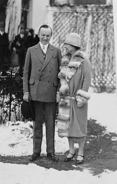 Helen Keller with Calvin Coolidge, 1926. National Photo Company Collection. Public domain via Library of Congress.