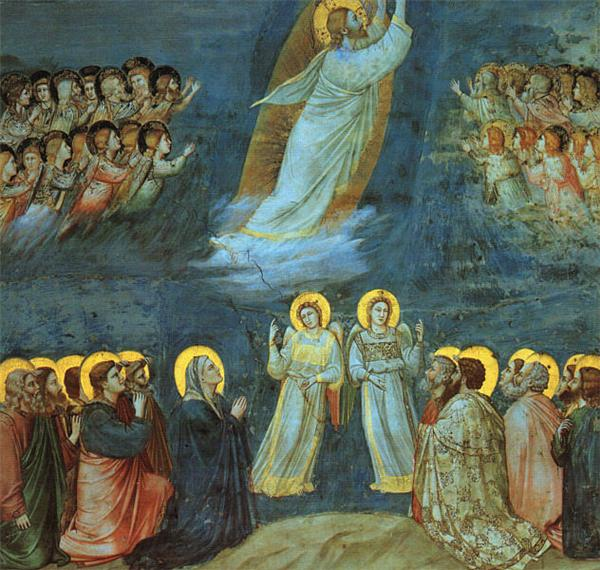 The Ascension by Giotto (c. 1305). Public domain via WikiArt.
