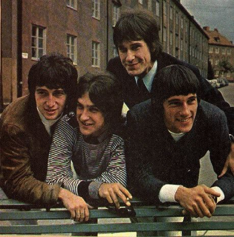 A promotional photo of British rock group The Kinks, taken in Stockholm, Sweden, ca. 2 September 1965. Public domain via Wikimedia Commons.