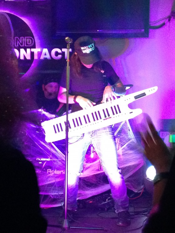 V.J. Manzo playing Keytar