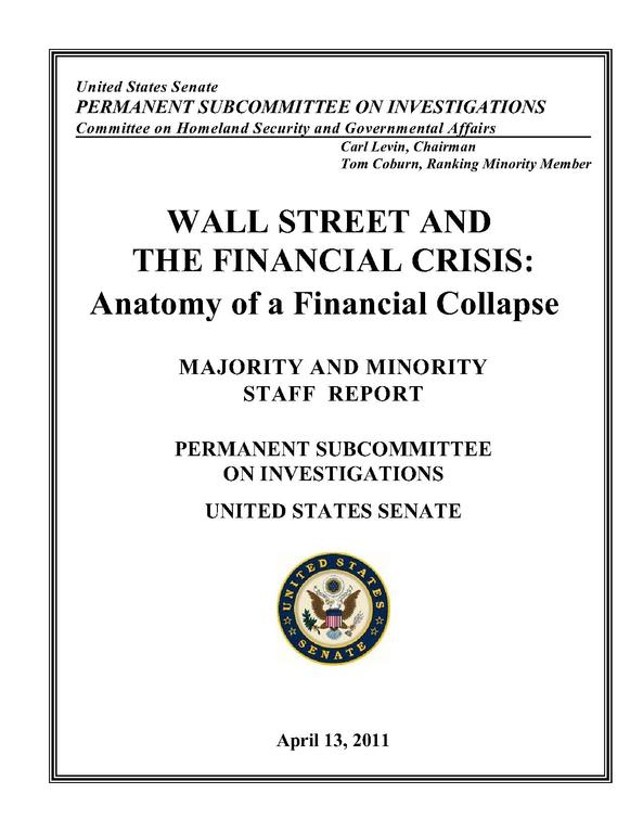 The 635-page Senate report on the financial crisis.