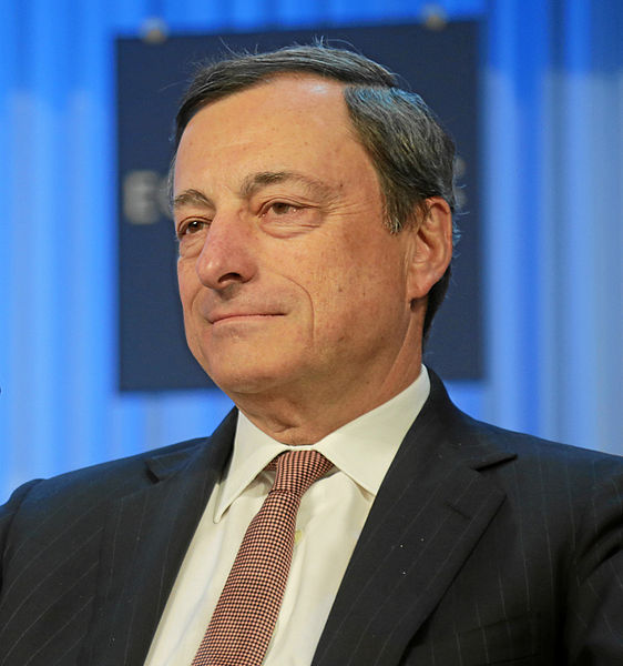Mario Draghi, President of the European Central Bank. CC-BY-SA-2.0 via Wikimedia Commons.