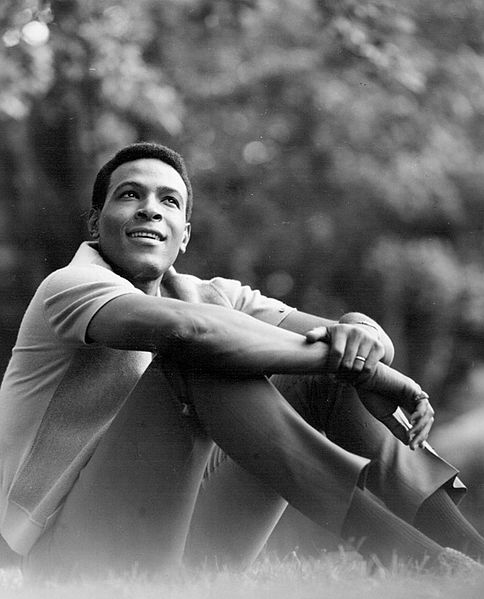 Marvin Gaye, 1966, bby J. Edward Bailey. Public domain via Wikimedia Commons.
