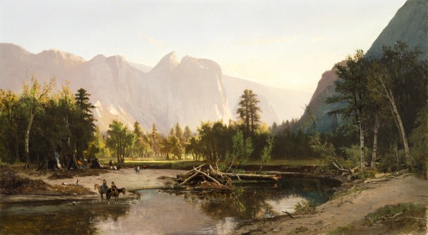 William Keith's Yosemite Valley, painted in 1875 at the height of Muir's holy influence on him. Credit: Los Angeles County Museum of Art. Public domain.