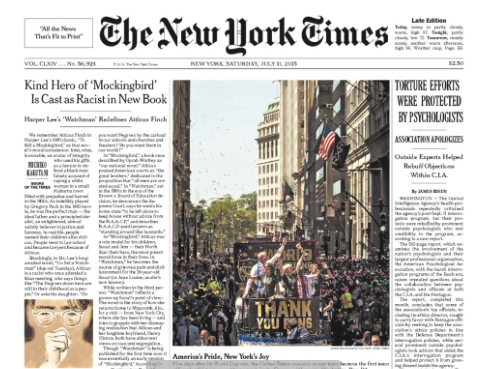 The New York Times, July 11, 2015 Edition. 17 U.S.C. § 107: Fair Use
