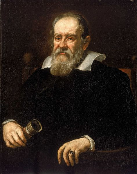 Portrait of Galileo Galilei by Justus Sustermans,1636. National Maritime Museum, Greenwich, London. Image in the public domain via Wikimedia Commons.