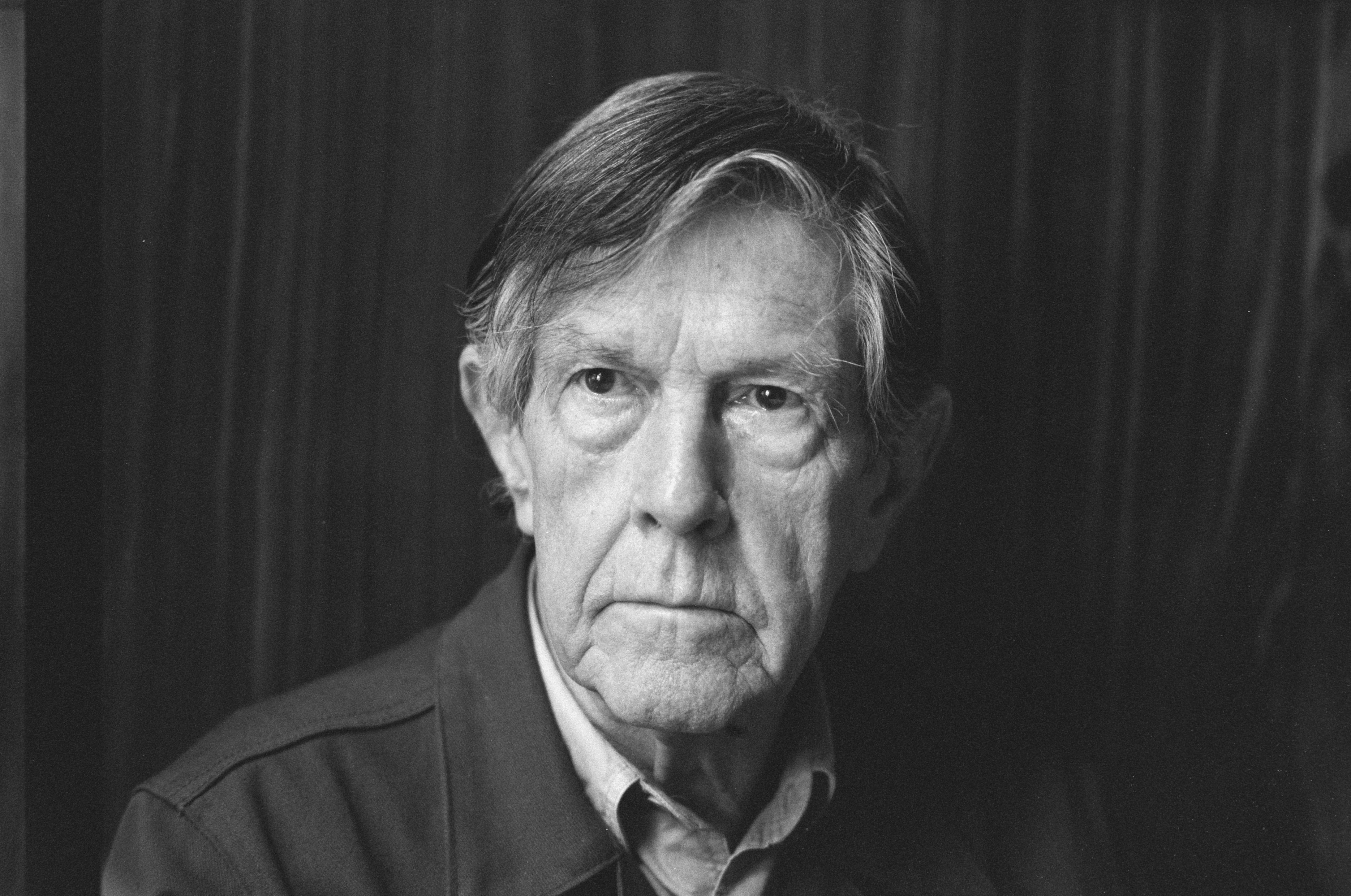 John Cage in 1988. Photograph by Rob Bogaerts. Image courtesy of the Dutch National Archives.