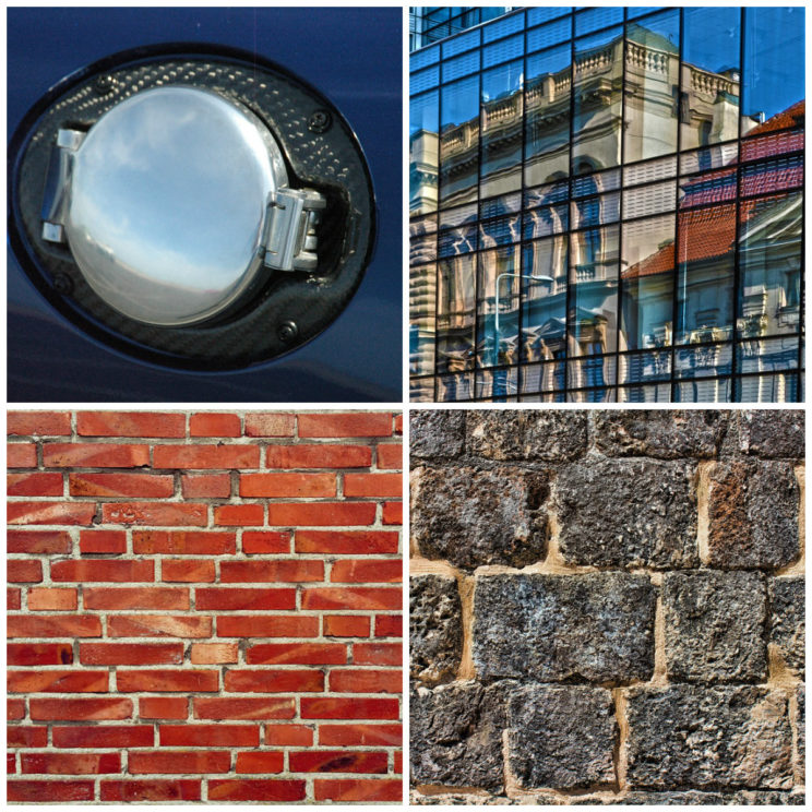 Image Credit, Clockwise: 'Carbon Fiber' by ATM Depot, 'Building' by LenaSevcikova, 'Wall' by GregMontani, 'Structure' by Nebenbei. All CCO Public Domain via Pixabay.
