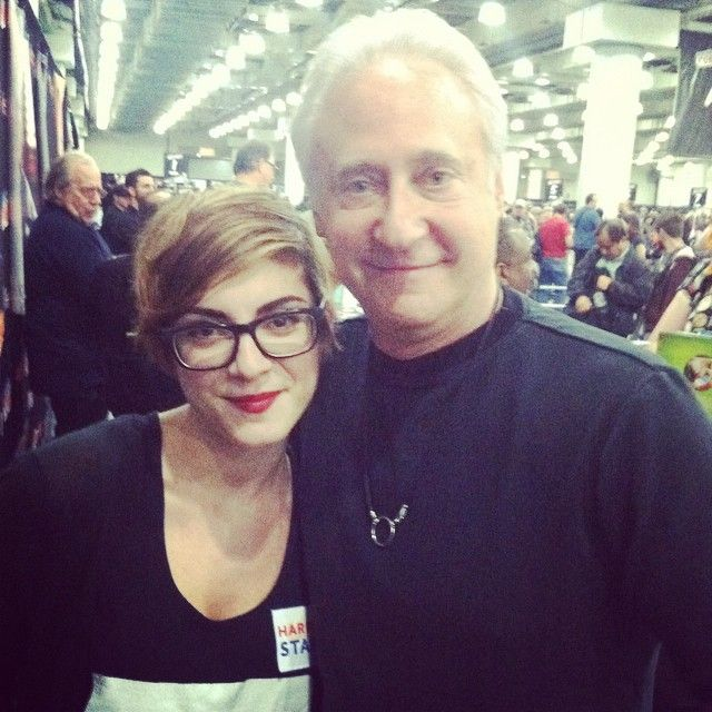 Lauren at NY ComicCon (with Brent Spiner). Image used with permission.