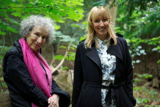 Margaret Atwood and Katie Paterson © by Giorgia Polizzi. Used with permission.
