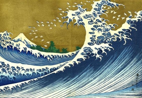 The Great Wave off Kanagawa by Hokusai. Public domain via Wikimedia