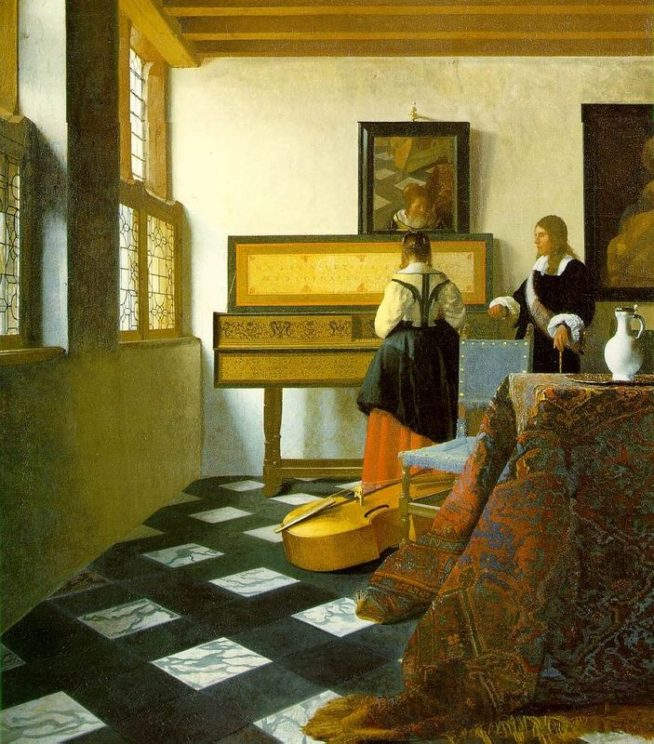 "Image credit: Vermeer's ""Music Lesson"""