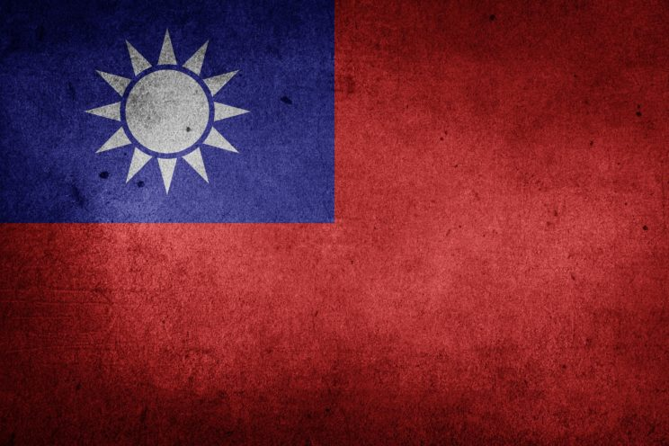 Taiwan flag by Etereuti. CC0 Public Domain by Pixabay.