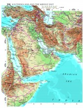 Map of Southern Asia and the Middle East from The Atlas of the World, 19th Edition. (c) Oxford University Press USA 2012