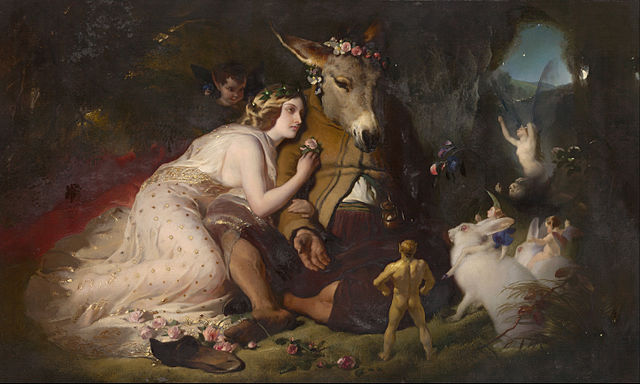 Titania and Bottom in a scence from A Midsummer Night's Dream, by Edwin Landseer