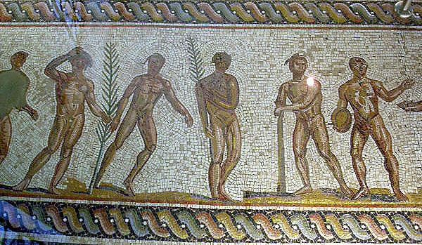 Mosaic floor Museum of Olympia