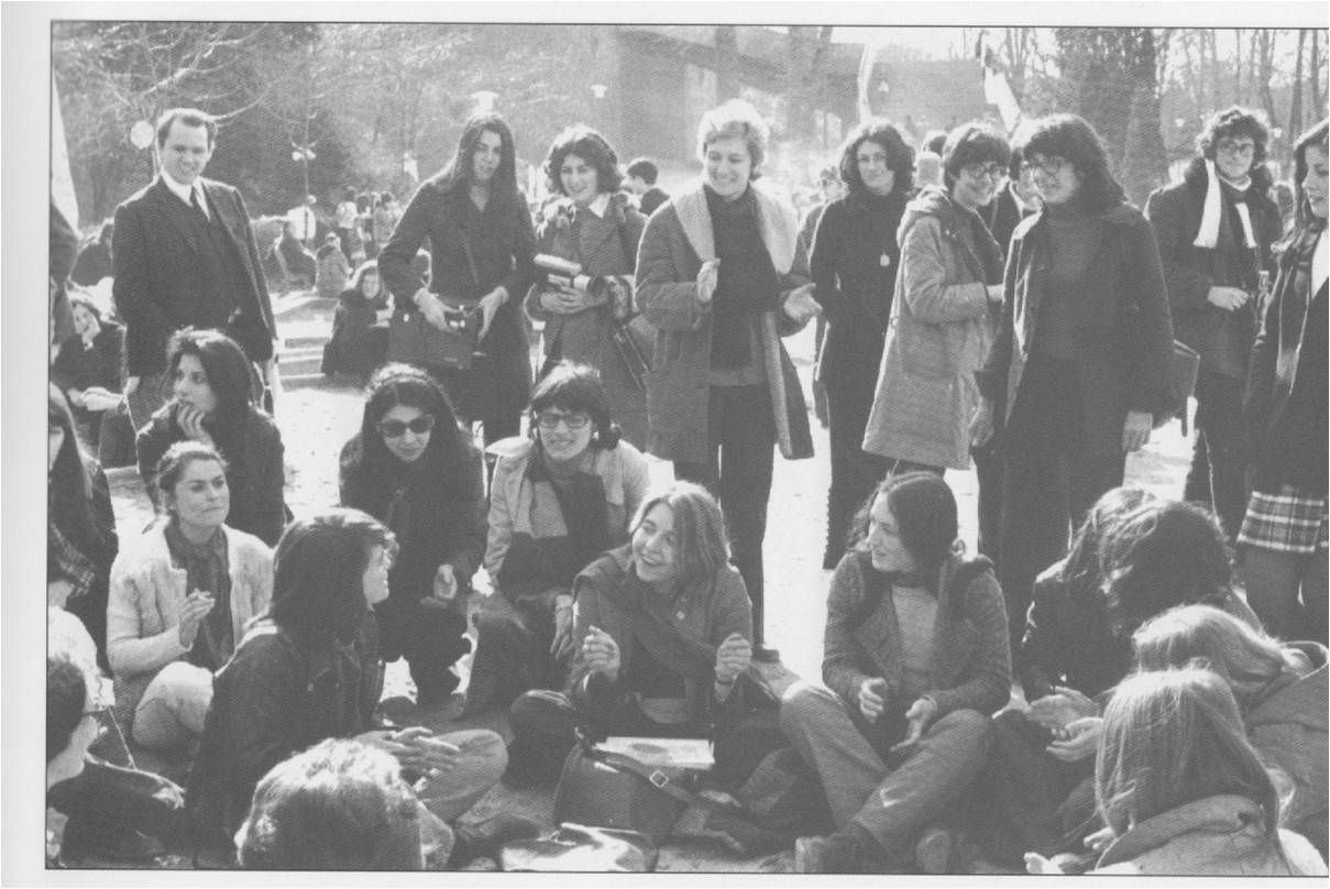 Feminist group in France, 1971.