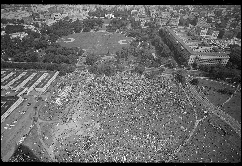 Aerial View of the March on Washington