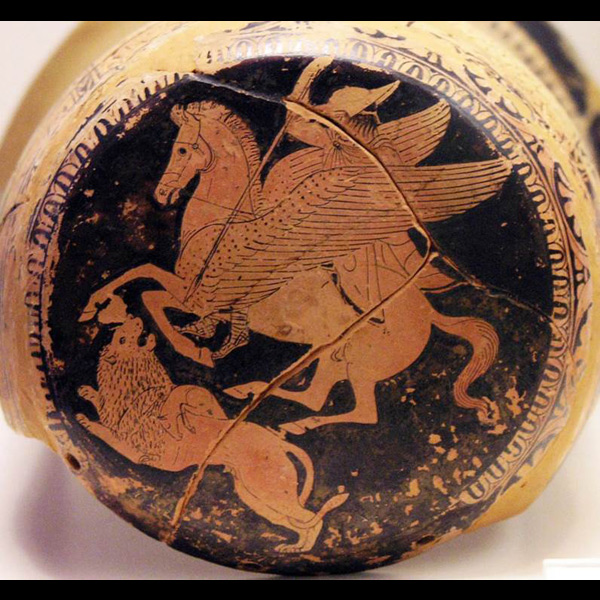 Gods and mythological creatures in The Iliad in ancient art
