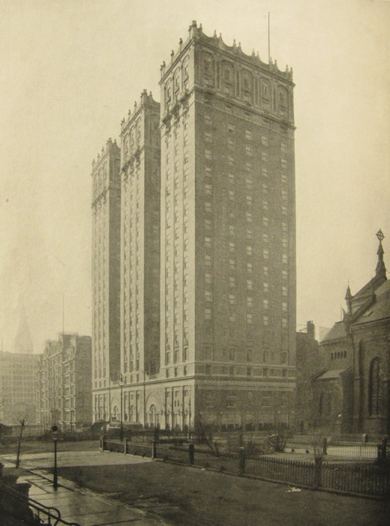 The Vanderbilt Hotel in 1912, from Architecture, Vol. XXVI, No. 2, February, 1912.
