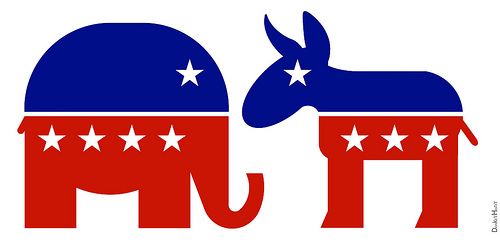 The Republican Elephant and Democratic Donkey