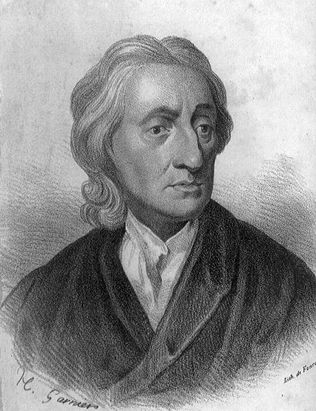 John Locke The portrait is from the Image source: Library of Congress, reproduction number LC-USZ62-59655