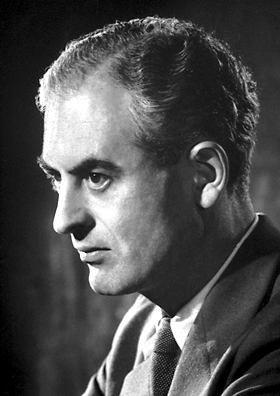 Peter Medawar, 1960.  Image is in the public domain, via wikimedia commons.
