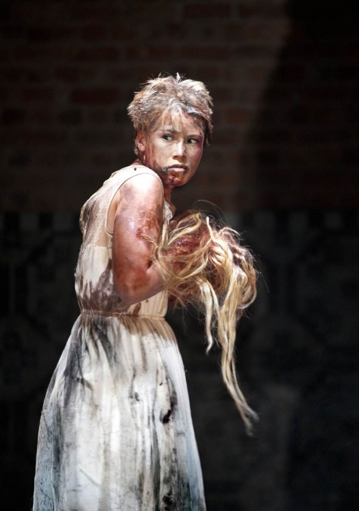 Rose Reynolds as Lavinia in the RSC 2013 production of Titus Andronicus.  Photo by Simon Annand.