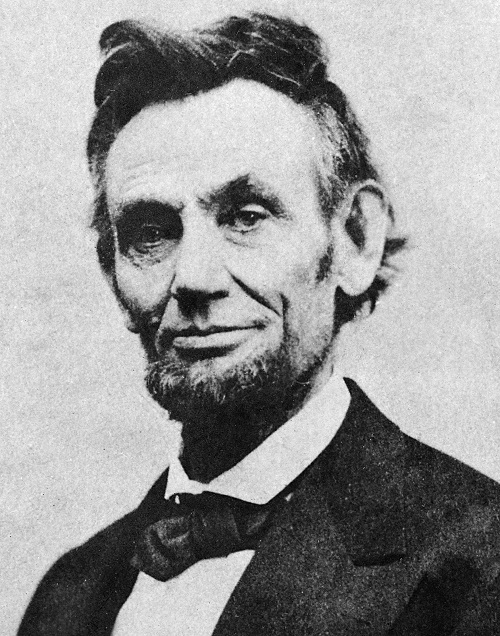 Photo of Lincoln, 1865