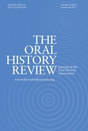 oral history review