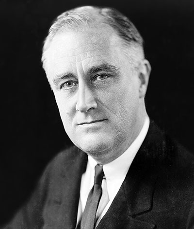 Franklin D. Roosevelt in 1933, Photo by Elias Goldensky (1868-1943), Public Domain via Wikimedia Commons