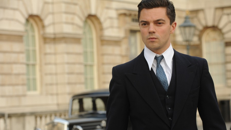 Dominic Cooper as Ian Fleming in Fleming . (c) BBC Worldwide Americas.