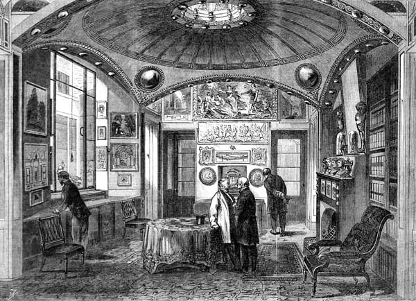 The breakfast parlour at Sir John Soane's Museum as pictured in the Illustrated London News in 1864