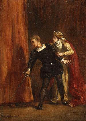 Hamlet and his Mother by Eugene Delacroix