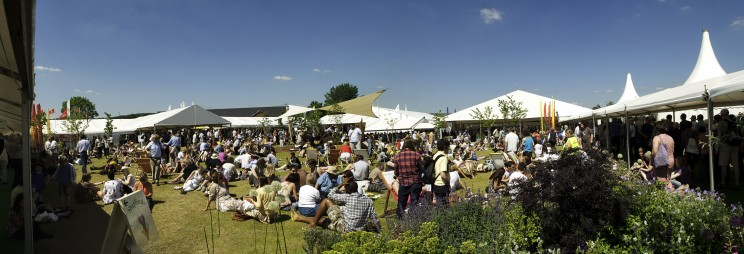 The Hay Festival site. Photo by Finn Beales.